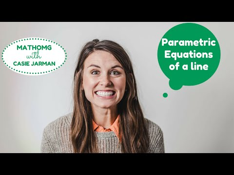 Writing a Parametric Equation Given 2 Points