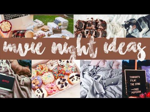 MOVIE NIGHT IDEAS!! SNACKS+ MOVIE OPTIONS