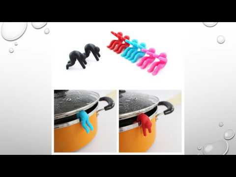 Kitchen Tool Heat Resistant Silicone Pot Spill-proof Lid Rack Phone Dish Holders