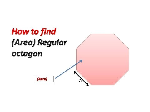 How to find  (Area)  of a Regular octagon