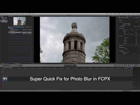 Final Cut Pro X 10.1.1 Blurs Photos - quick fix
