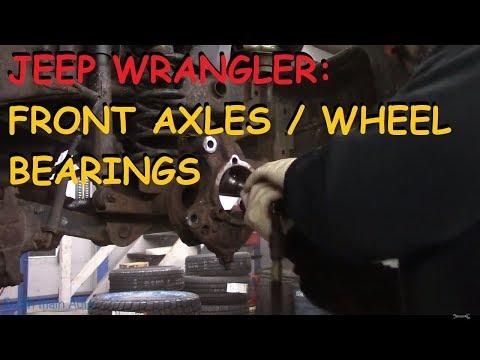 Jeep Wrangler: Installing Front Axles & Wheel Bearings