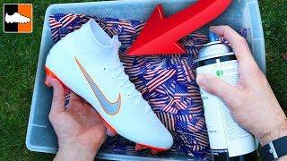 How To Hydro Dip Flag 🇺🇸 Custom Boots ⚽️ Soccer Gear!