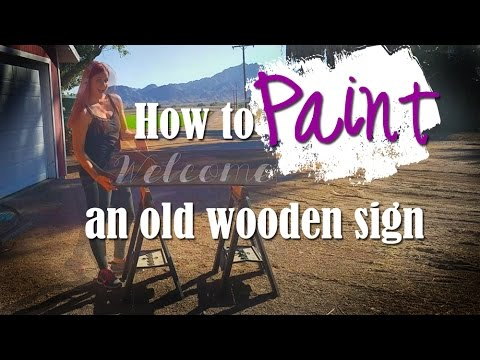 How To Make Custom Rustic Signs (Barnwood)