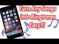 How To Turn A Song Into A Ringtone Iphone Ipad Ipod Touch Wi