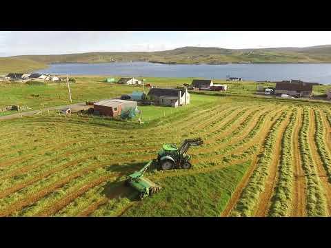 Cutting Silage, Yell Shetland Isles