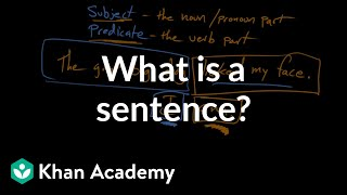 What is a sentence? | Syntax | Khan Academy
