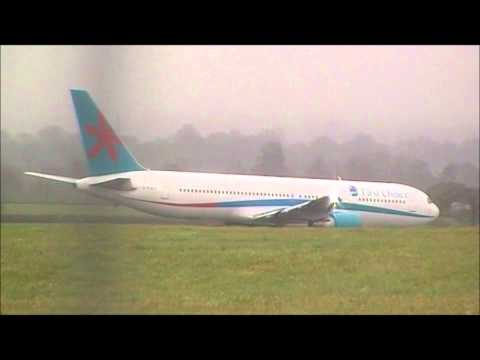 Thomson Airways 767-300ER in First Choice Livery departing Exeter
