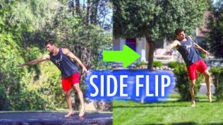 Learn Side flip On Trampoline So You can Sideflip On Ground