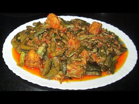 Bhindi Gosht (Okra or Ladyfinger) - Bhindi Ki Sabzi - Bhindi Chicken Recipe