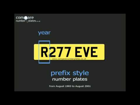 What are prefix style UK private number plates?