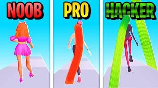 NOOB vs PRO vs HACKER in HAIR CHALLENGE?! 😱 (Hair Challenge | Handy App Spiele, Deutsch)