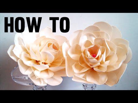 How to make FABRIC FLOWERS, CREAMY RIBBON ROSE, diy handmade flowers