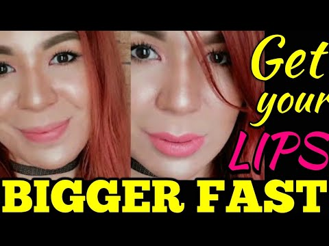 How to get BIGGER FULLER LIPS FAST and EASY without SURGERY!