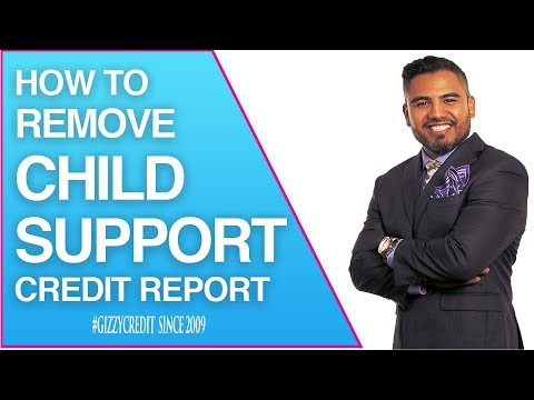 How to Remove Child Support from credit report & student loans removed in 30 days #gizzycredit