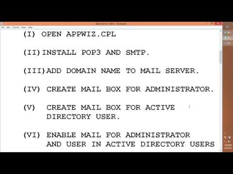 POP3 and SMTP in Windows Server 2003.