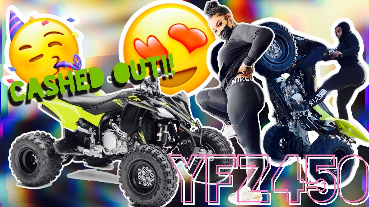 BUYING MY BRAND NEW 2021 YFZ450!!! | Custom BikeLifeDoll Wheelie Bar