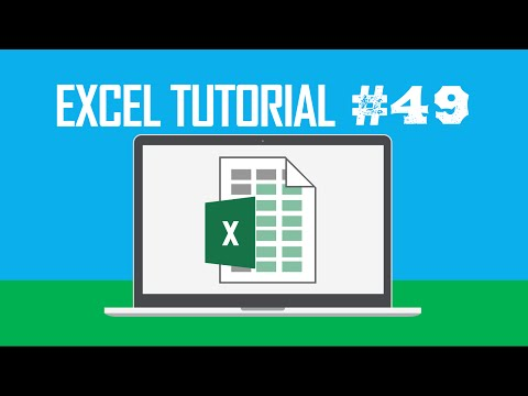 Excel Tutorial #49:  Displaying the Insert Dialog Box (Ctrl + Shift +