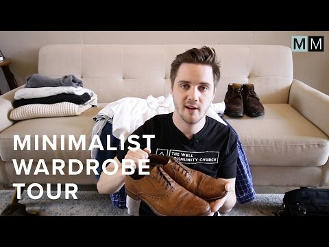 MINIMALIST WARDROBE TOUR (GUYS) - 39 items!   minimal millennials