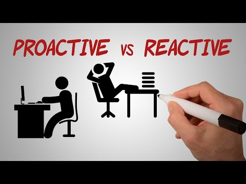 Proactive vs Reactive | Be Proactive