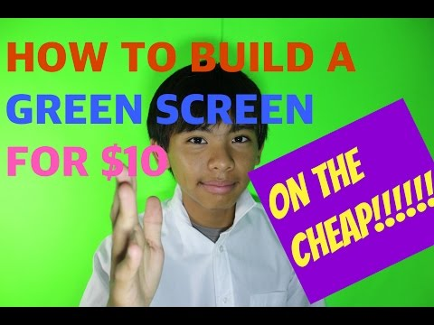 HOW TO BUILD DIY GREEN SCREEN FOR $10!!!!2016