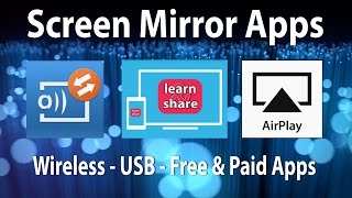How to Screen Mirroring, Android Apps, Cast Screen, AirPlay, Mac OS X, Windows