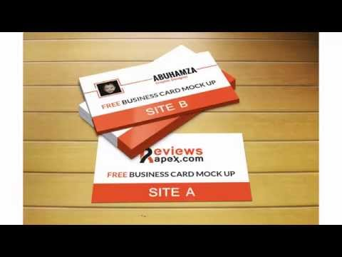 Free Download Photorealistic Business Card Mockup Template