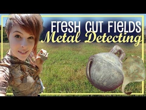 Metal Detecting the Fresh Cut Fields of Gettysburg, PA