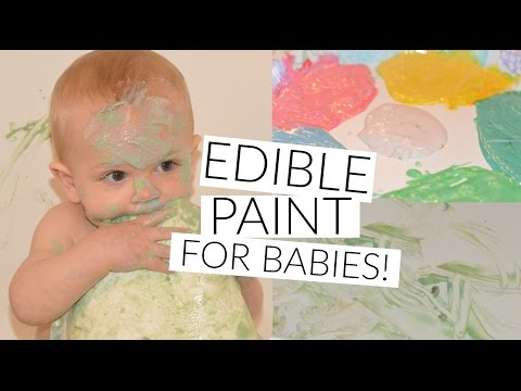 EDIBLE PAINT!! // FUN SPRINGTIME ACTIVITY FOR BABIES!