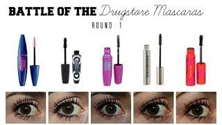 Battle of the Drugstore Mascaras: Round One