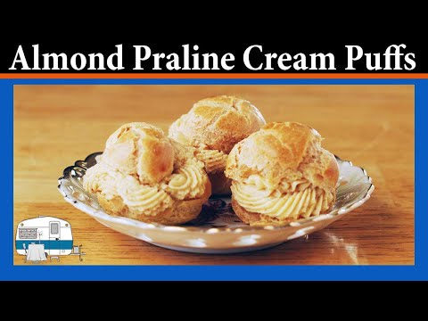 Cream Puffs with Almond Praline Filling
