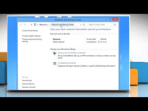Change IP address in Windows® 8