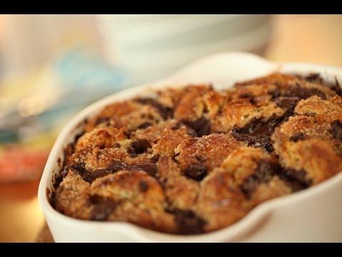 Dark Chocolate Croissant Bread Pudding  | Kin Community