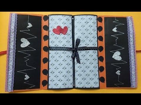 Two Layered Special Birthday Greeting card idea for Boyfriend | tutorial