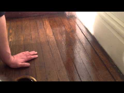 How to shellac unsanded hardwood floor part 1