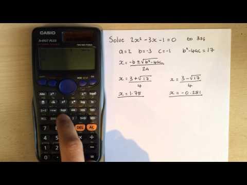 Calculator Hacks 5: Quadratic formula on Casio fx-85GT