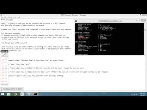 How to Hack Wifi Password via. Command Prompt