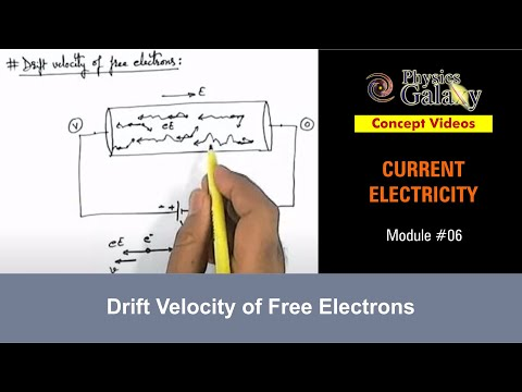 6. 11th Class Physics Lecture | Current Electricity | Drift Velocity of Free Electrons
