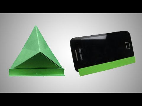 How to make a paper mobile phone stand - Origami mobile stand