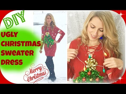 DIY Ugly Christmas Sweater Dress | Christmas Party Ideas