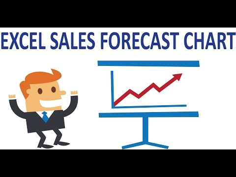 Excel charts - Show sales and forecast data in the same line