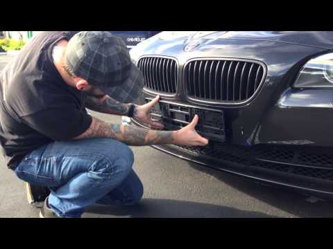 How to Mount Your Custom European License Plate Using Screws