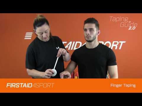 Basic taping technique for sprained finger