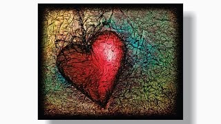 How to PAINT a HEART with TISSUE PAPER TEXTURE