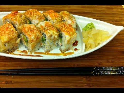 How to make Sushi shrimp cake roll