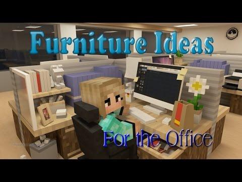 Minecraft Furniture Ideas: #6 Kiwi Designs for Office Furniture
