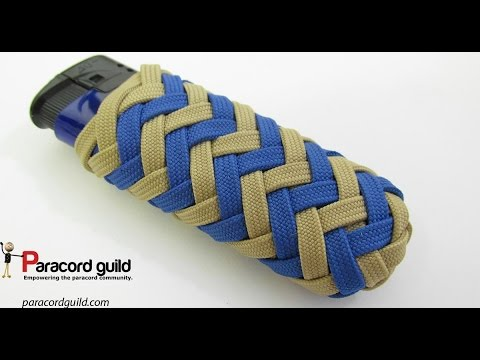 Paracord lighter wrap- pineapple style