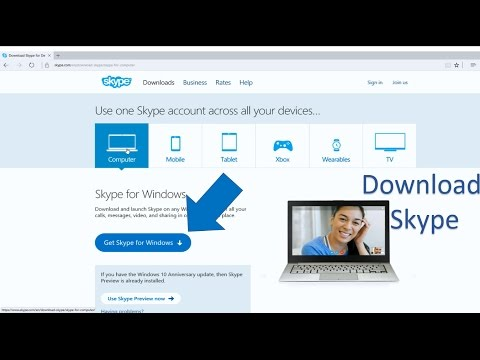 How to download skype for free(pc download)