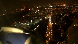 Bad weather turbulent landing at London City Airport - British Airways Embraer 190 - G-LCYP
