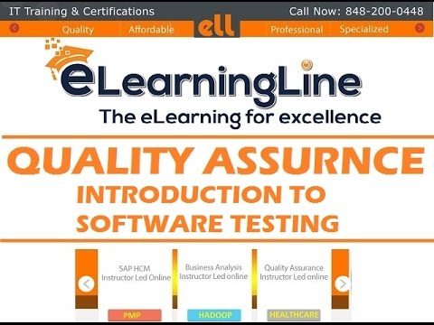 software testing tutorial for beginners - Introduction by ELearningLine @848-200-0448